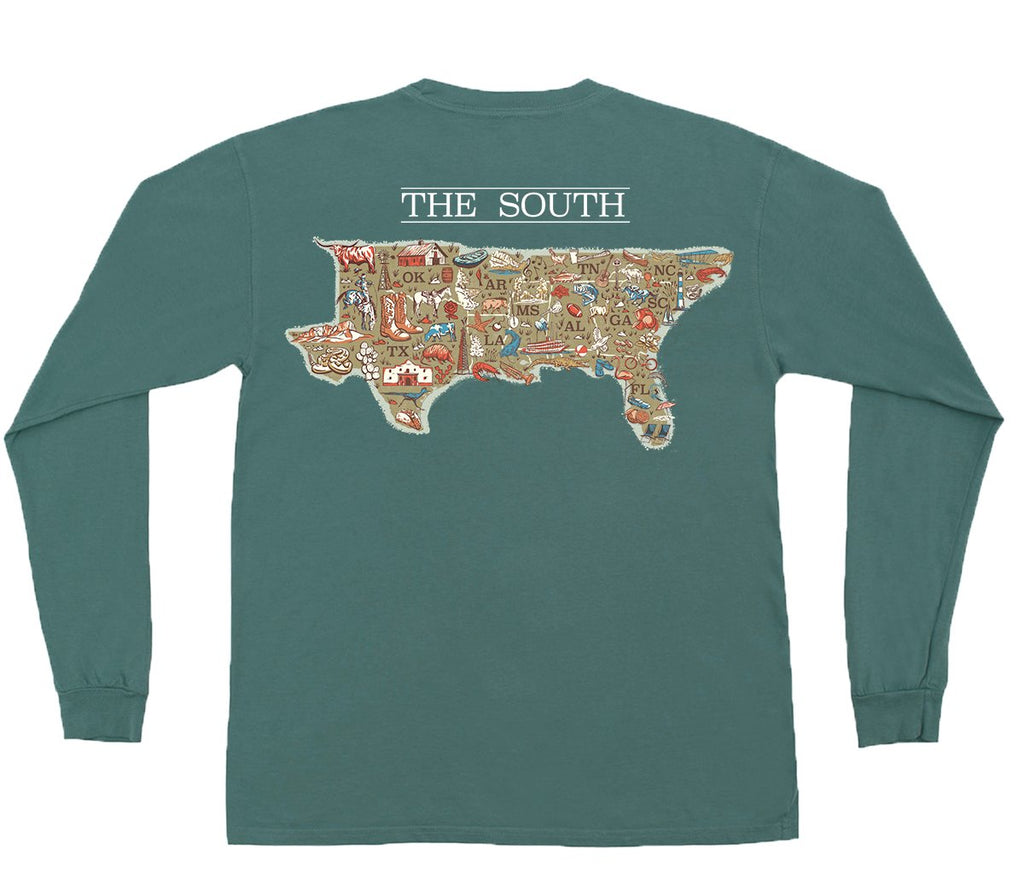 the american co. map of the south tshirt