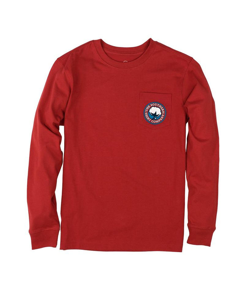 Southern Shirt Co. Youth 'Signature Logo' Long Sleeve - Pompeii Red