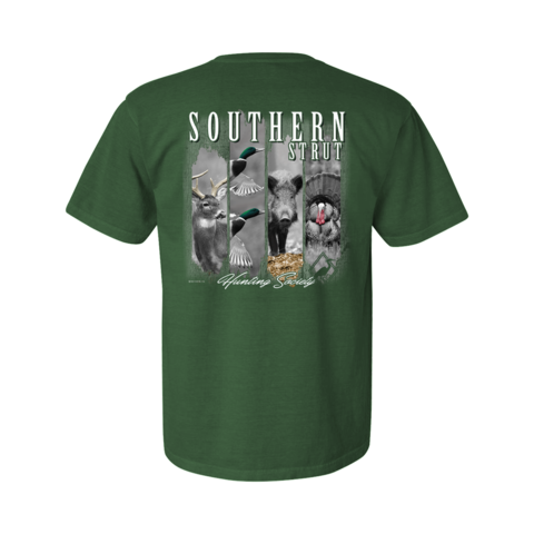 Southern Strut Four Hunts Green T Shirt