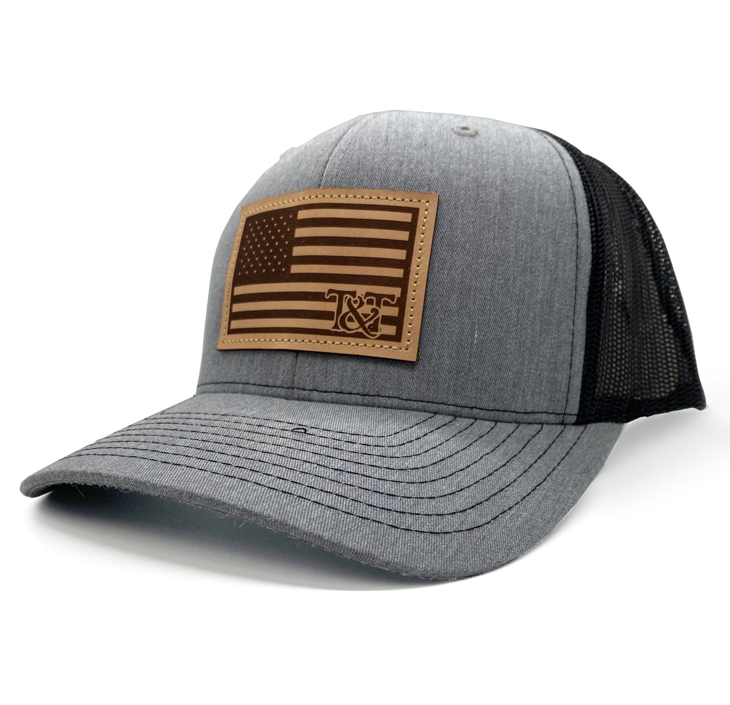 tried and true amercian flag patch hat