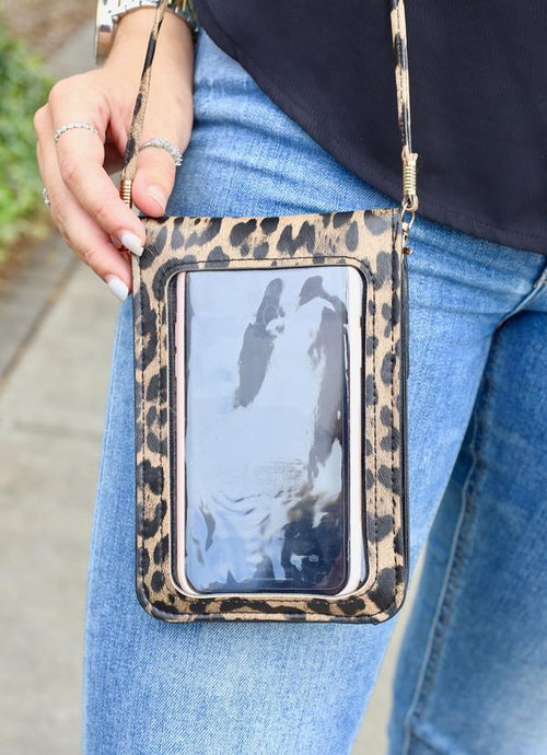 Desiree Crossbody With Touchscreen Brown Leopard