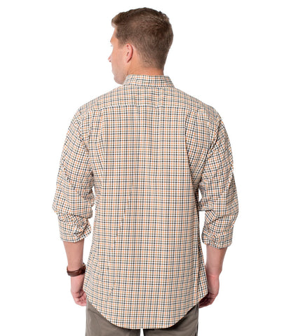 Southern Shirt Co. 'Yorkshire Check' Long Sleeve Button Up- Autumn Oak