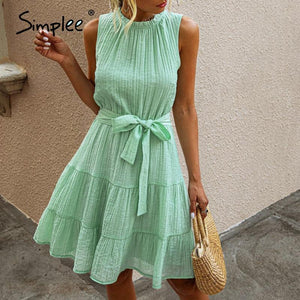 Dress to impress in Simplee Summer Sleeveless Sexy Dress