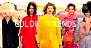 Trends of fashionable colors spring/summer