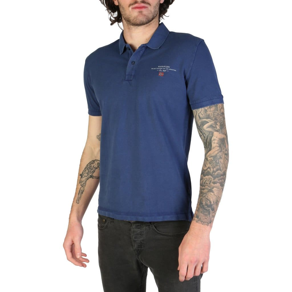 Napapijri - ELBAS-2_N0YIJ5 - blue / S - Clothing Polo