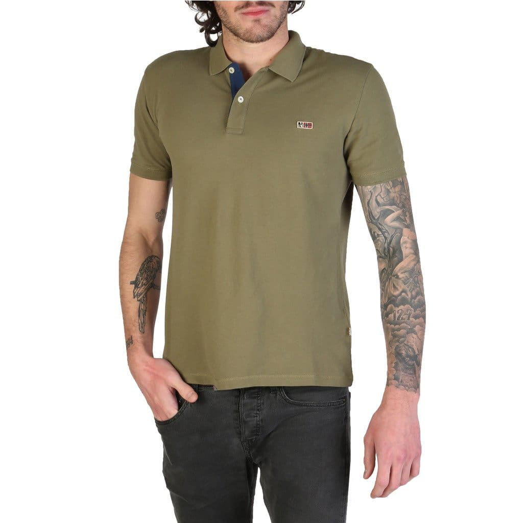 Napapijri - TALY-2_N0YIJJ - green / M - Clothing Polo