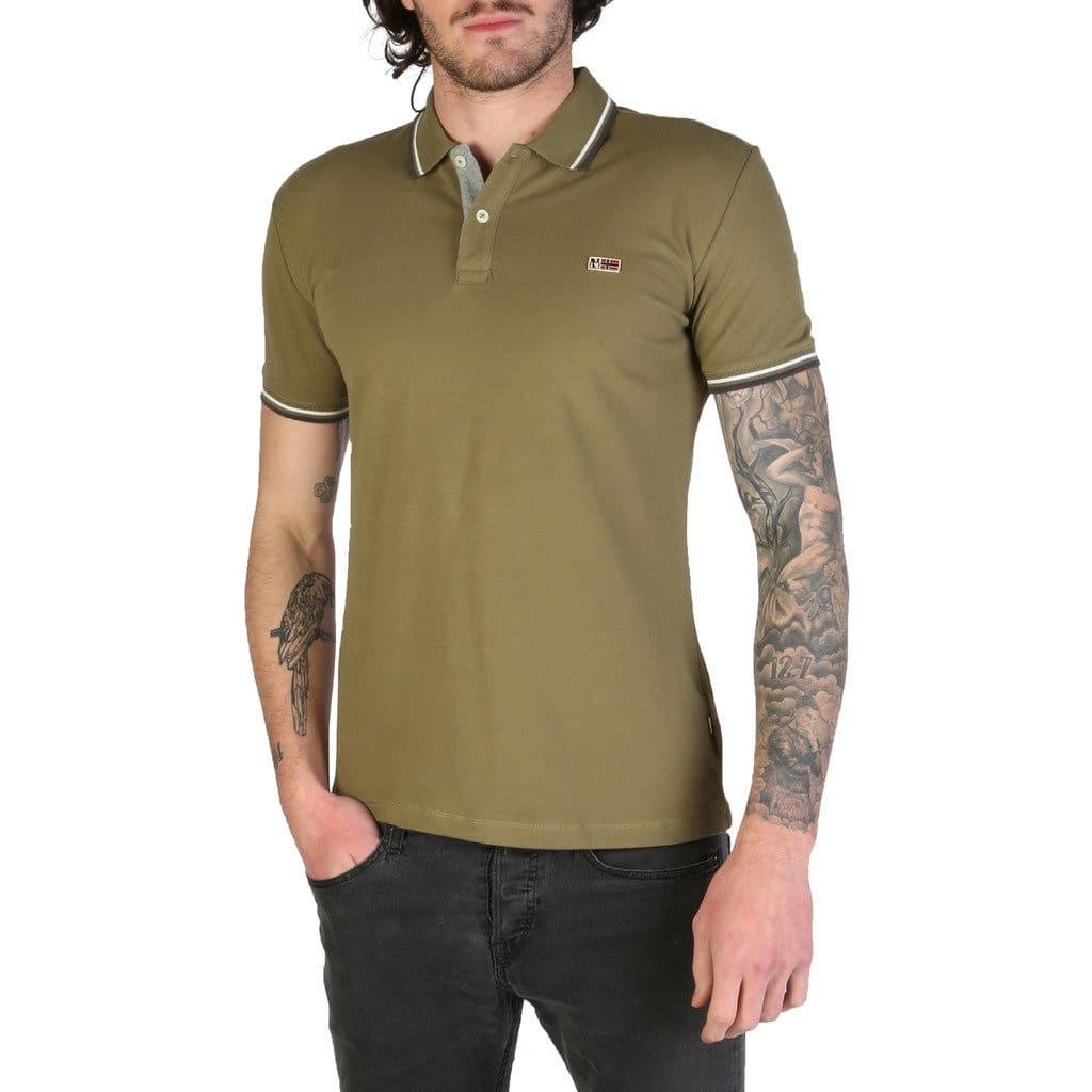 Napapijri - TALY-STRETCH_N0YIJH - green / M - Clothing Polo