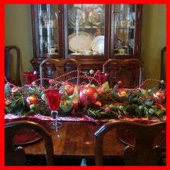 Christmas garland as table decoration