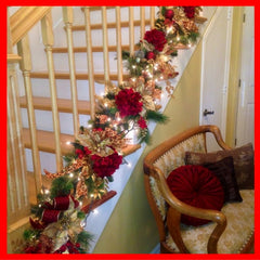Christmas garlands on spindles