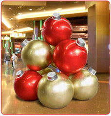 Large Christmas Ornaments Stack