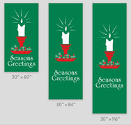 Seasons Greetings Candle Light Pole Banner