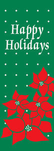Happy Holidays Poinsettia Light Pole Banner