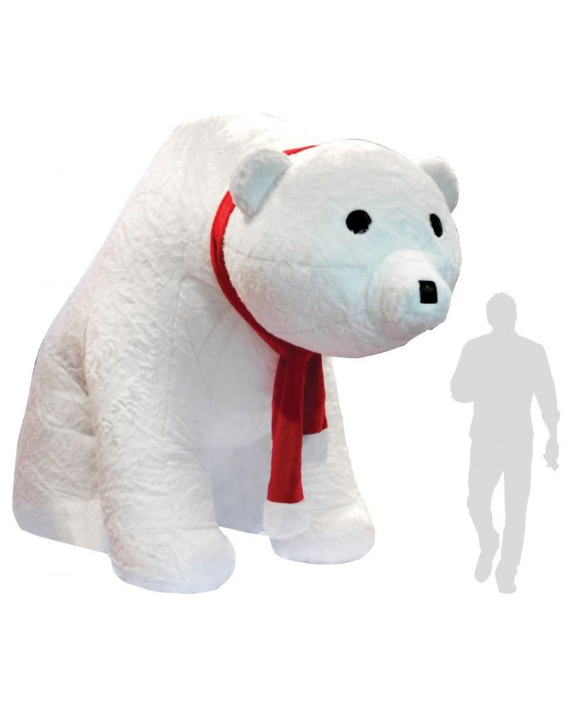 10 ft Inflatable Polar Bear Decoration