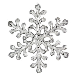 "18"" Chrome Acrylic Snowflake Ornament (Set of 2)"