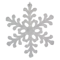 "18"" Clear Gloss Outdoor Acrylic Snowflake Ornament"
