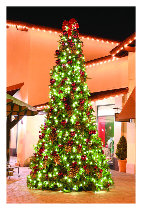 Giant Decorated Holly Tree Commercial Christmas Supply
