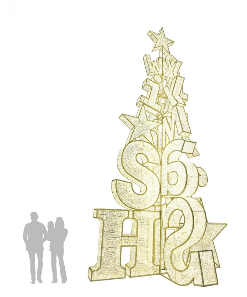 26' Holiday Greeting LED Light Tree
