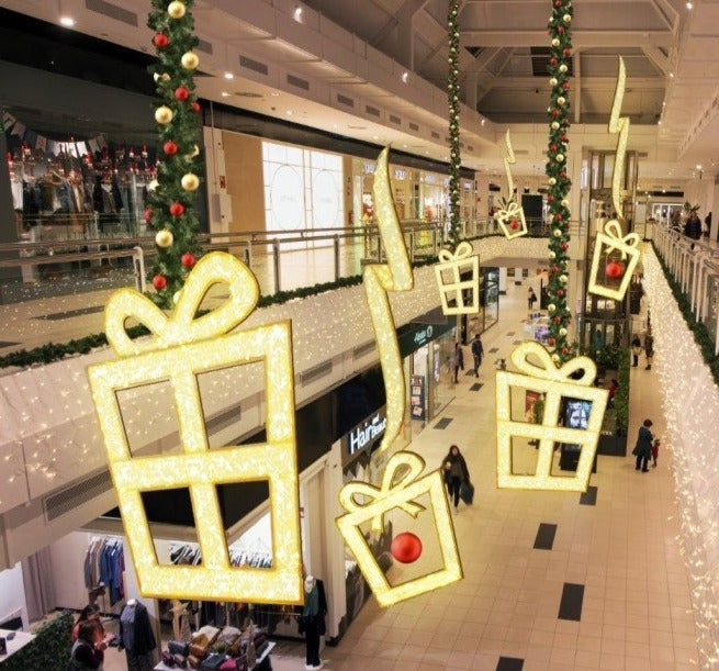 2D 6ft LED Gift Box Commercial DecorationinMall