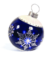 "28"" Blue Lit LED Large Christmas Ornament"