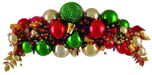 Ornament Cluster in Classic Christmas Colors