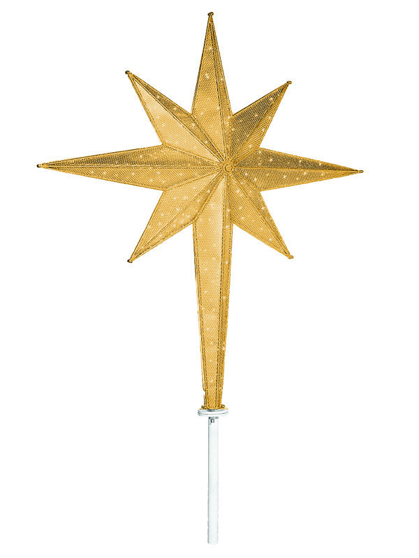 Gold Moravian Led Tree Top Star