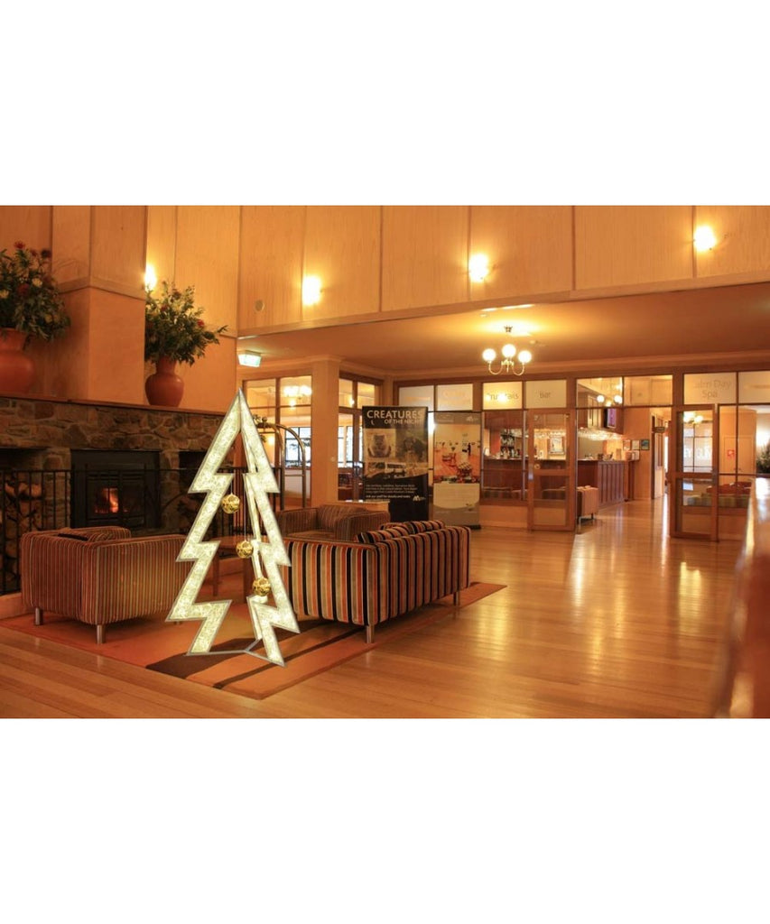 3D Cut Out Accent Christmas Tree Lobby Decor