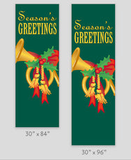 Holiday Candle Light Pole Banner