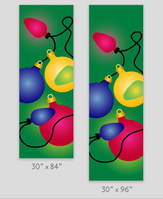 Holiday Ornaments Light Pole Banner