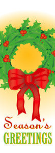 Holiday Wreath & Bow Light Pole Banner