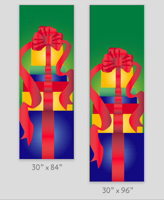 Holiday Gift Boxes Light Pole Banner