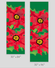 Poinsettia Light Pole Banner