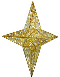 Giant Illuminated Patterned Star Tree Topper
