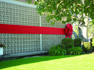Red Puff Bow for Exterior Building Decor