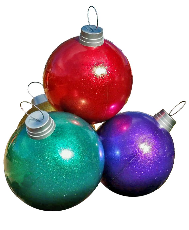 4 ball giant ornament stack