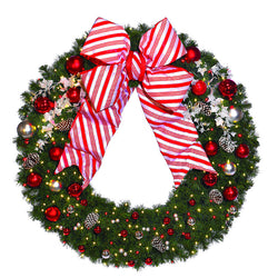 4' Candy Cane Commercial Wreath