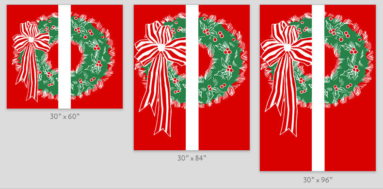 Double Wreath Light Pole Banner (Double Set)