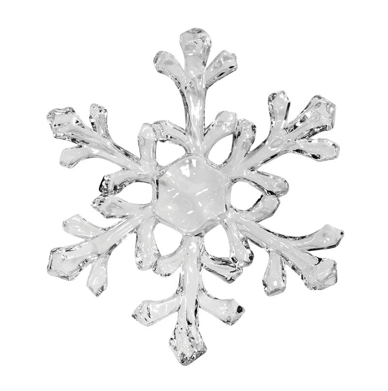 "6"" Clear Acrylic Snowflake Ornament"