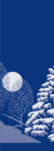 Winter Trees & Moon Light Pole Banner