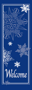 Welcome Snowflakes Light Pole Banner