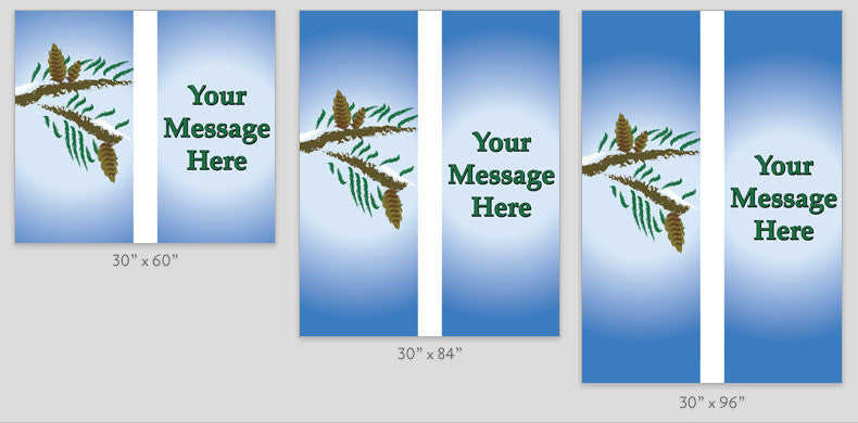 Pine Branches Light Pole Banner (Double Set)