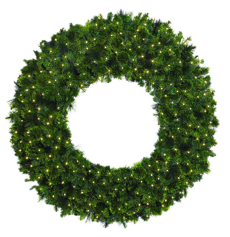 Mixed Foliage Giant Commercial Christmas Wreath