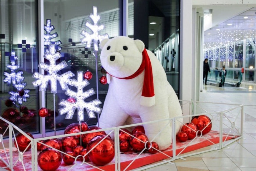 Inflatable Polar Bear Holiday Winter Decoration