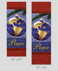 Peace Globe Light Pole Banner