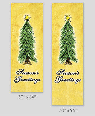 Paper Tree Light Pole Banner