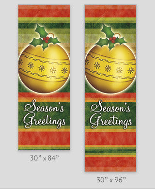 Striped Ornaments Light Pole Banner