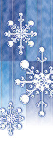 Paper Snowflake Light Pole Banner (Blue)