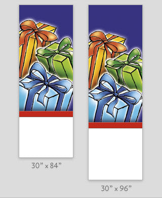 Three Holiday Packages Light Pole Banner