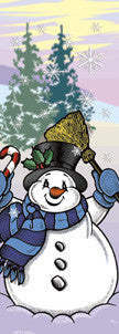 Snowman with Broom Light Pole Banner