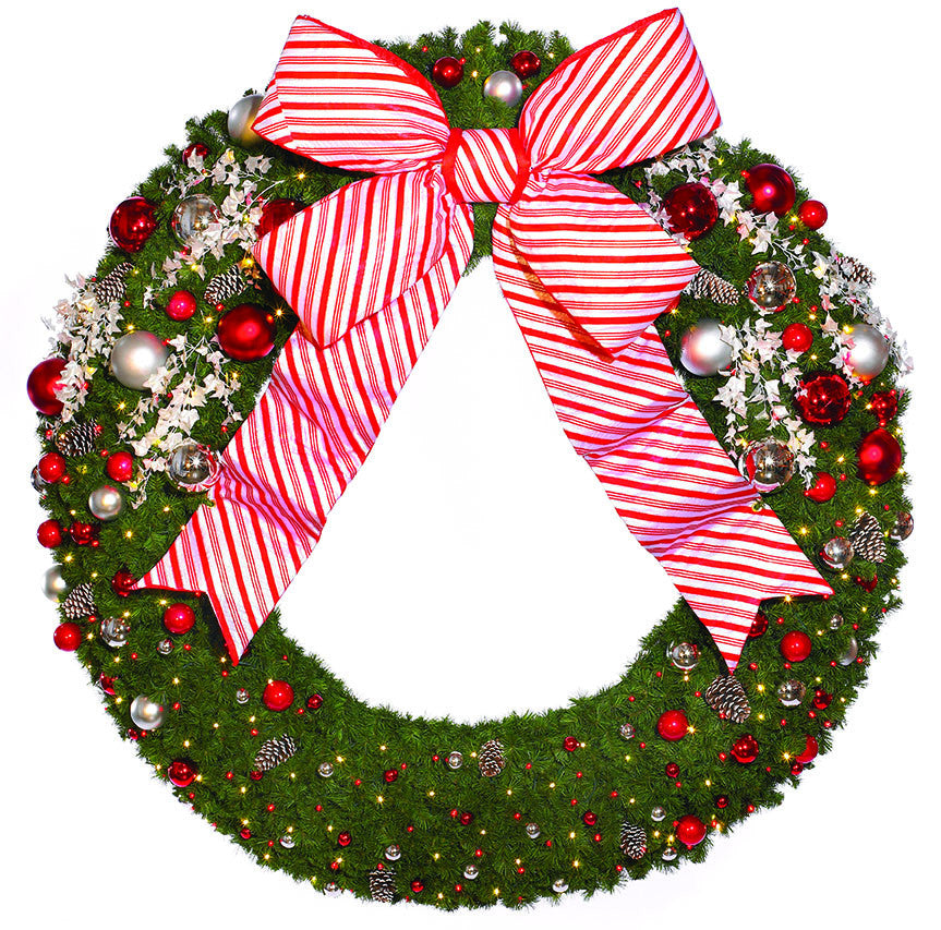 Giant 8' Candy Cane Commercial Wreath