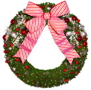 8' Candy Cane Commercial Wreath